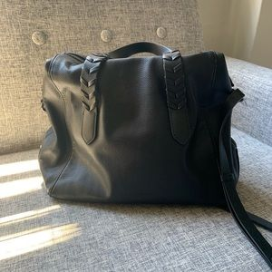 French Connection Leather Satchel